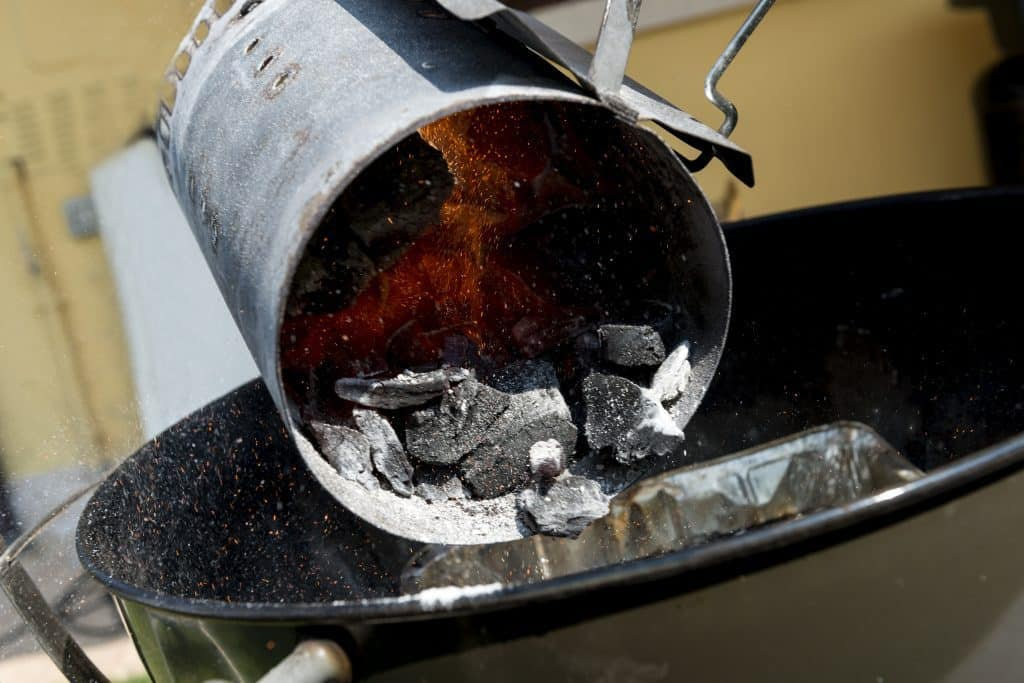 Adding Charcoal To Grill