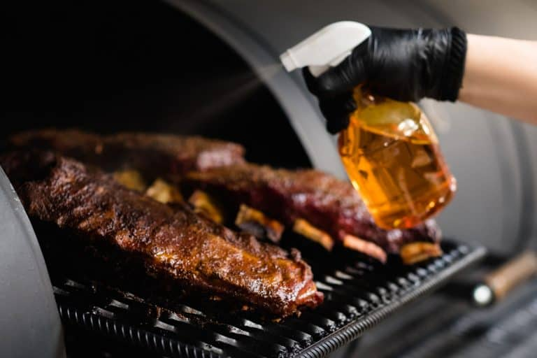 Spritzing Ribs With Spray Bottle