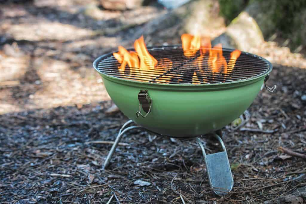 Grilling Over A Fire Pit