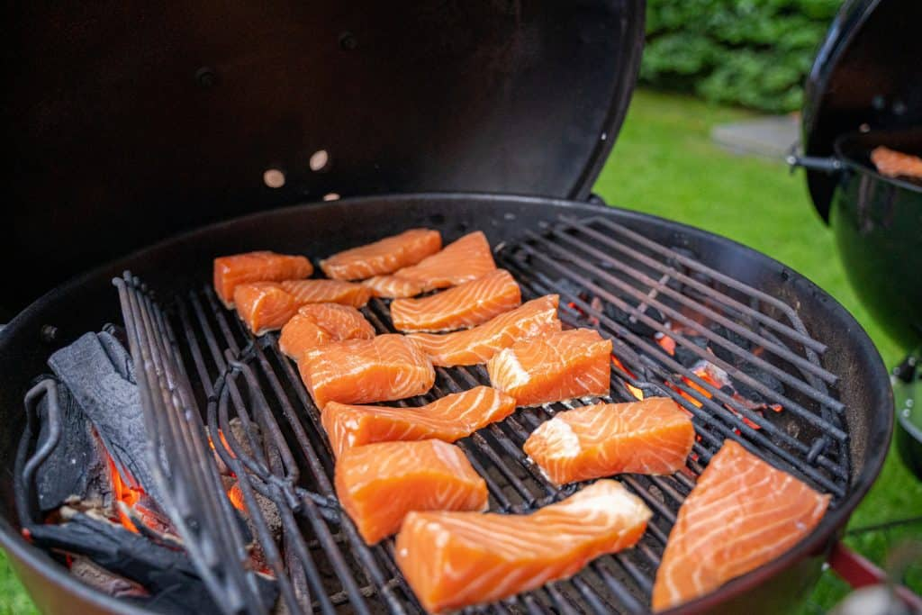 Hot Smoking Salmon On A Grill