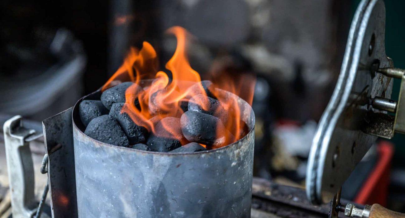 Hot Charcoal Briquettes